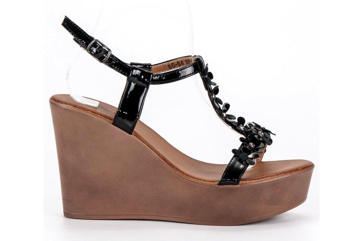 b325624c742a Eleganckie sandały na koturnie r.38 - 7398863488 - oficjalne ...