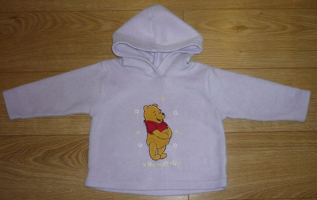 Mothercare bluza kaptur polar Kubuś Winnie 9-12m-c
