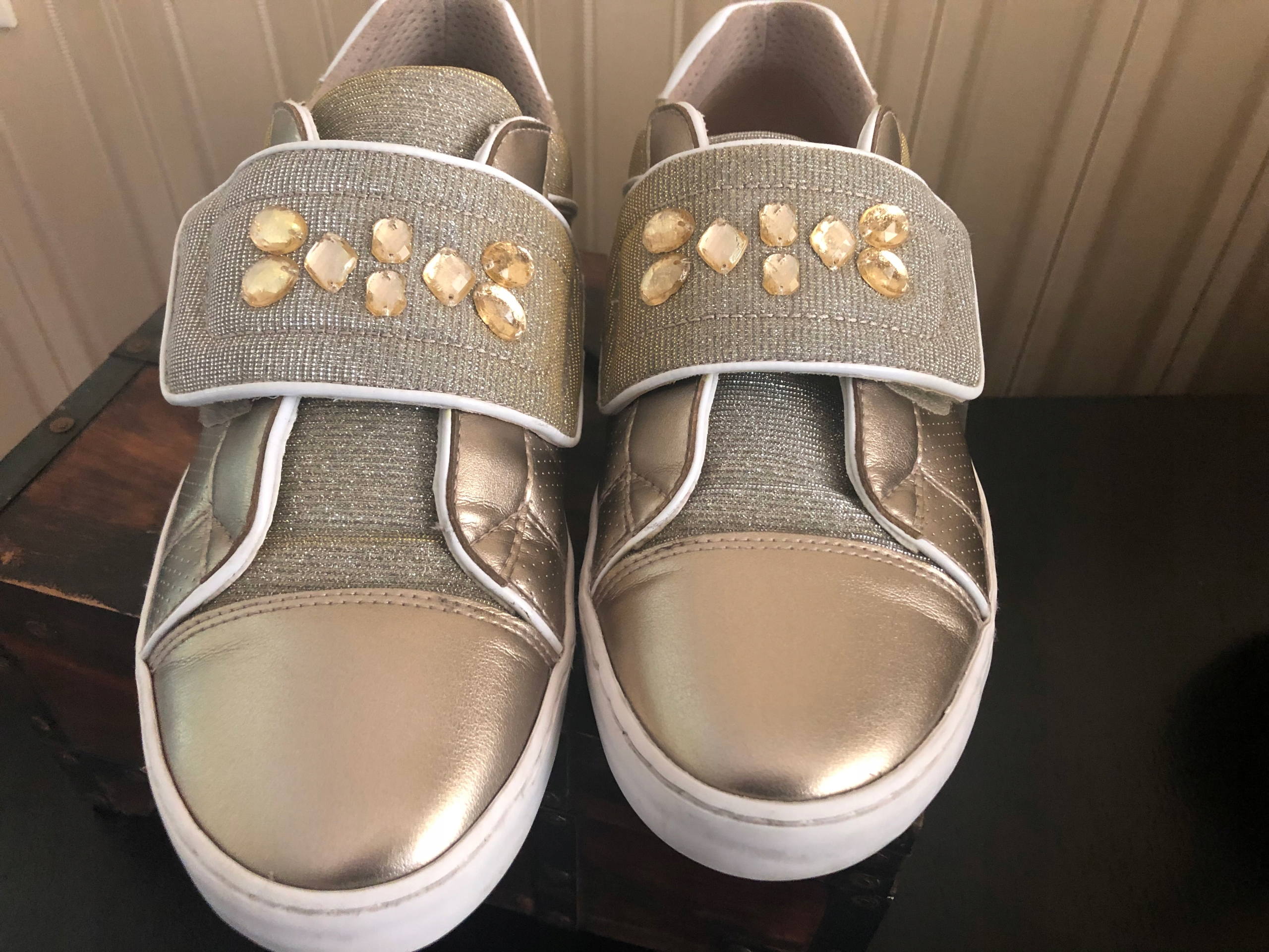 GEOX * sneakersy * 38 oddychające * złote