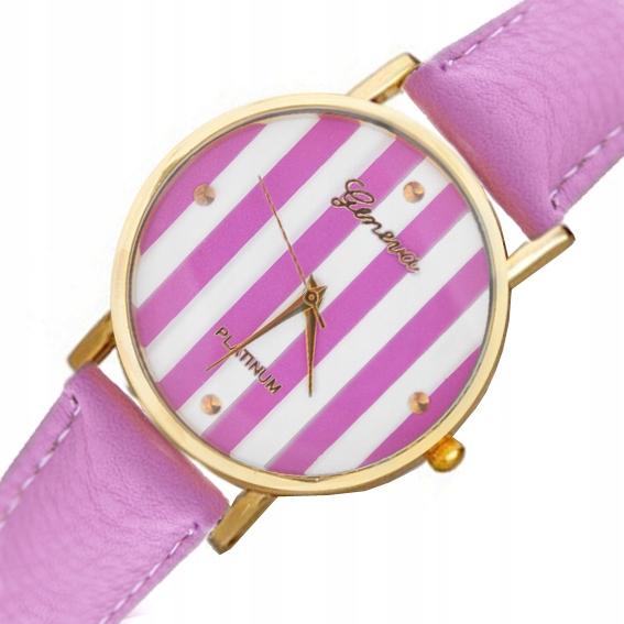 Zegarek Ekoskóra Młodzieżowy Pasek Kolorowy Geneva
