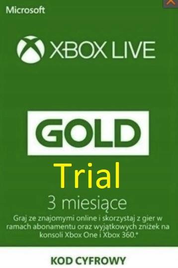 KOD Klucz XBOX LIVE GOLD One 360 3 MIESIĄCE Trial