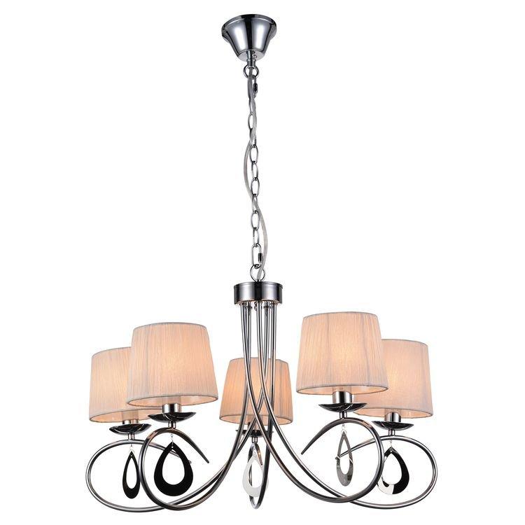 Dekoracyjna lampa wisząca Candellux ARNIKA srebrna