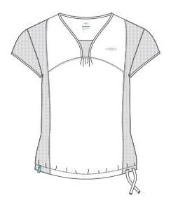 BIE0033 Koszulka damska UMBRO 42-44 EU / XL biała+