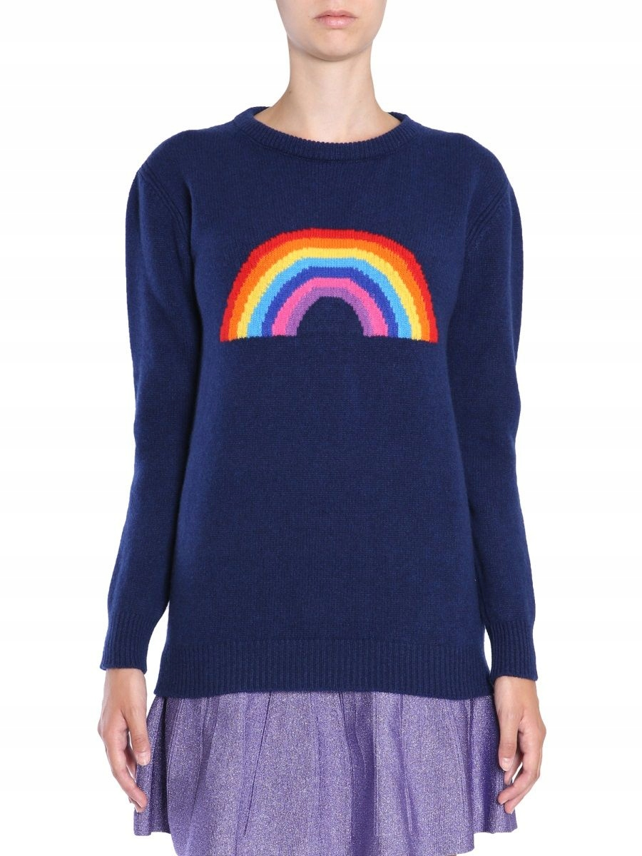 ALBERTA FERRETTI NIEBIESKI GRUBE SWETRY 38 IT