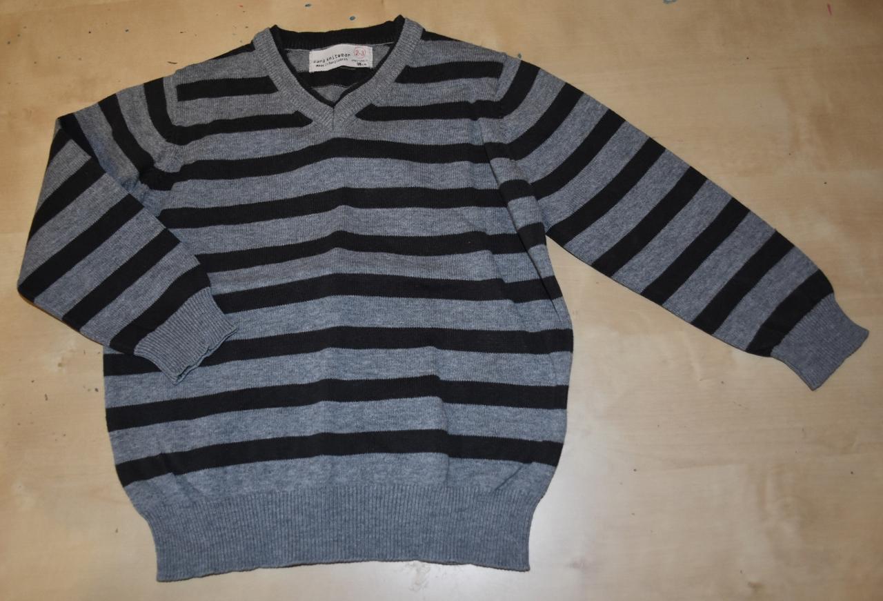 ZARA sweterek w szpic, 2-3 LATKA 98 CM