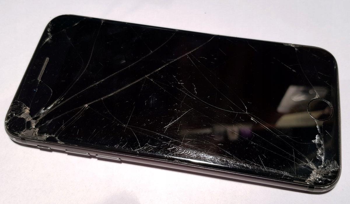 Wyświetlacz, ekran, dotyk, szybka, iPhone 8 black