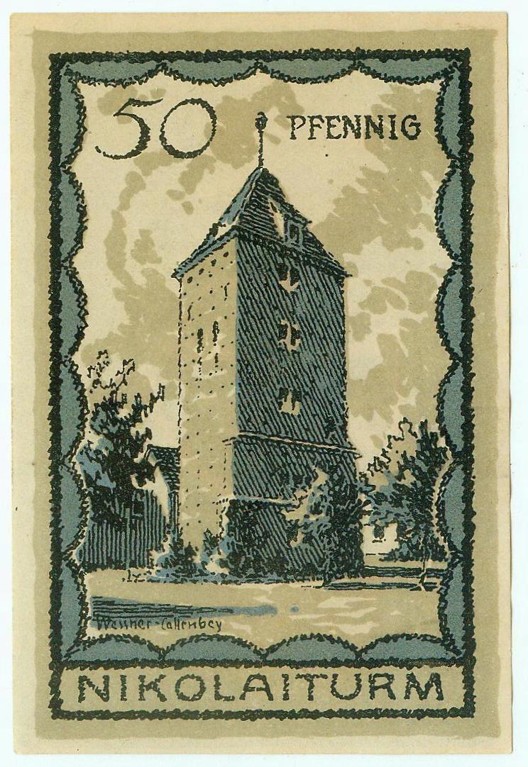 SZCZECINEK 50 FENIGÓW 15.11.1921 - idealny !!!