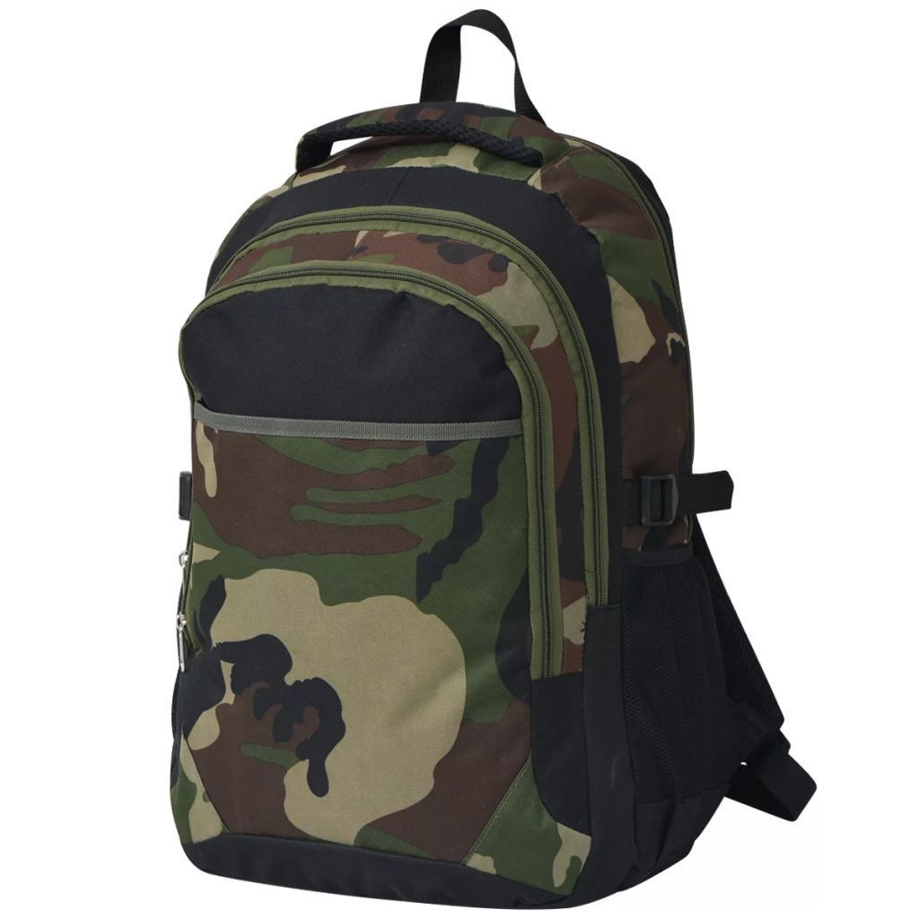 Plecak szkolny 40 L ,czarny i moro GXP-683115