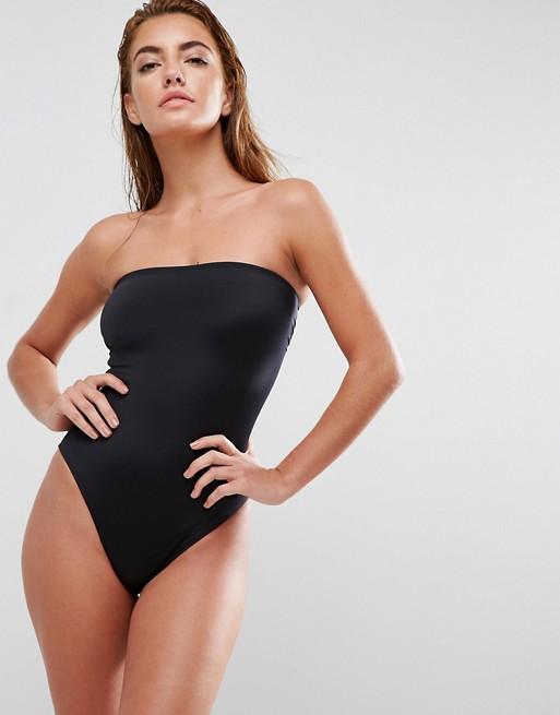 2584 CLEAN BANDEAU czarny strój kąpielowy M