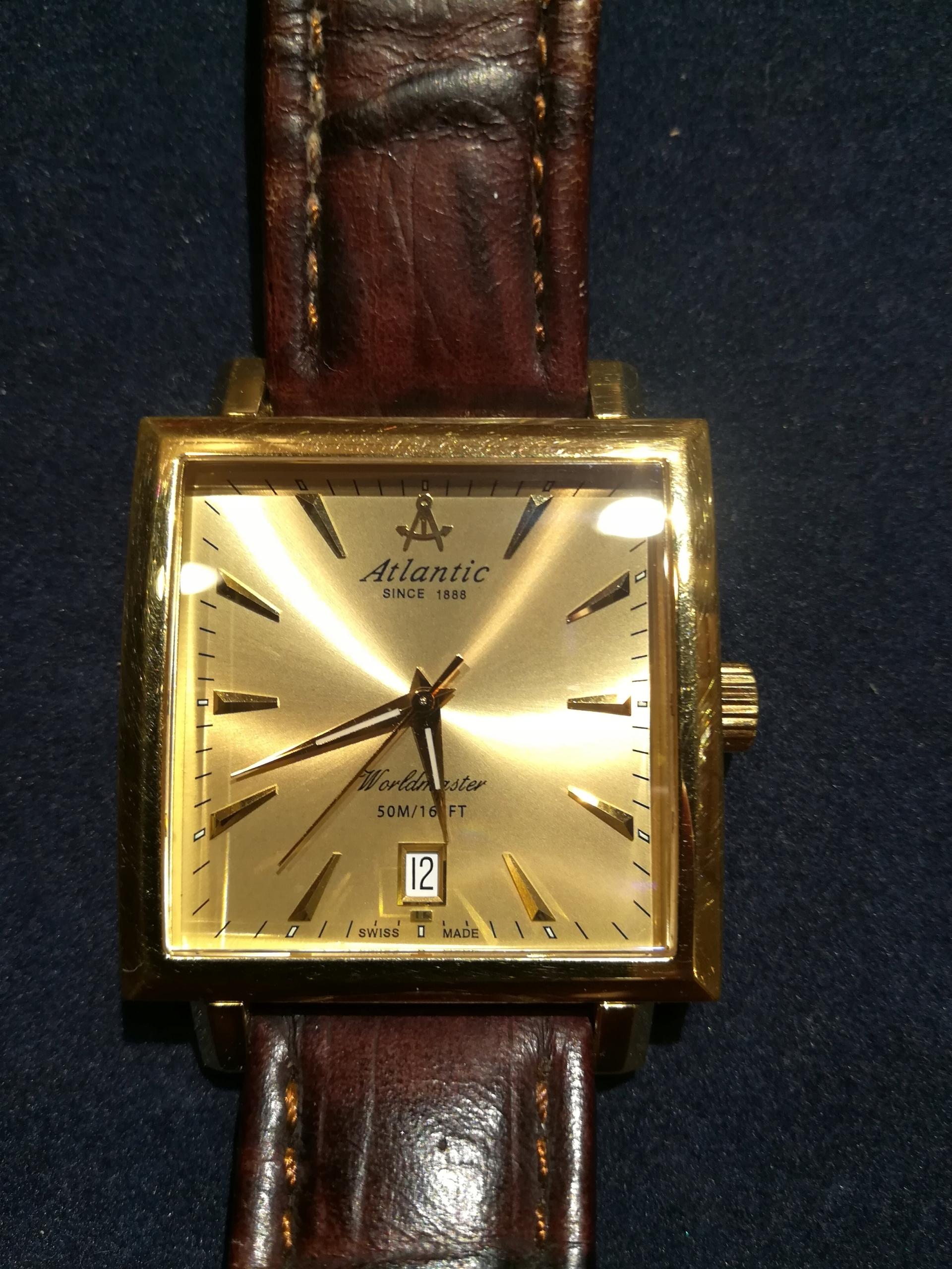 Zegarek Atlantic 54350 pozłacany