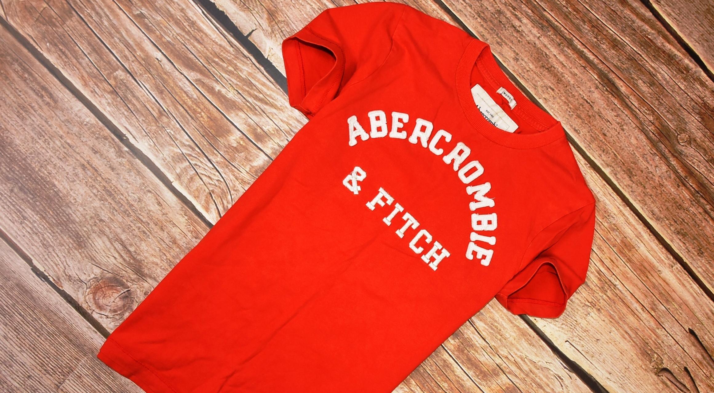 ABERCROMBIE&FITCH _ BAWEŁNIANY T-SHIRT LATO_ S