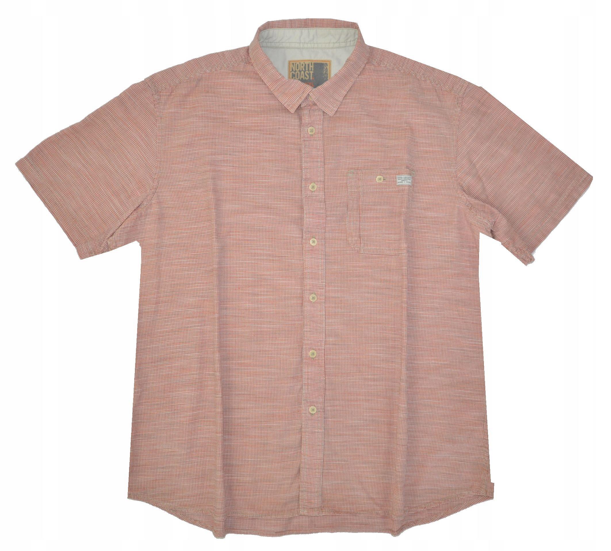 NORTH COAST M&S koszula lato koralowa XXL 47
