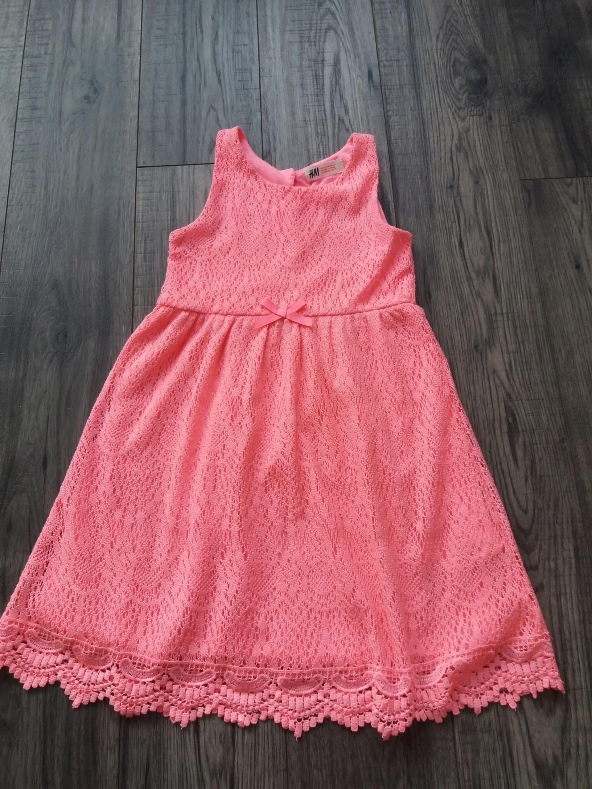 Sukienka koronkowa H&M r. 122/128