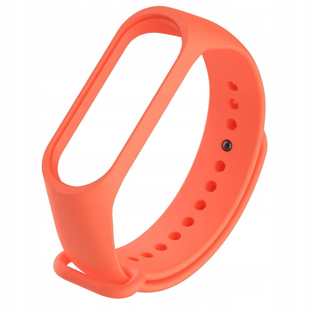Silikonowy elegancki pomarańczowy pasek do zegarka