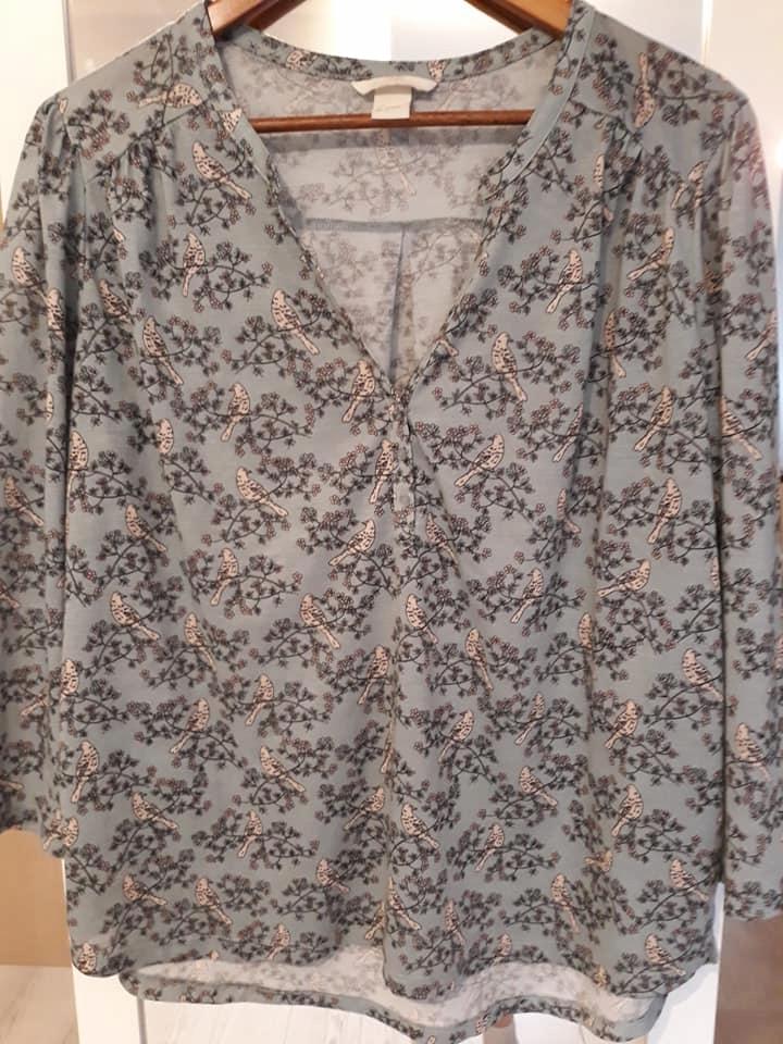H&M_ ładna bluzka we wróbelki_ 40/42