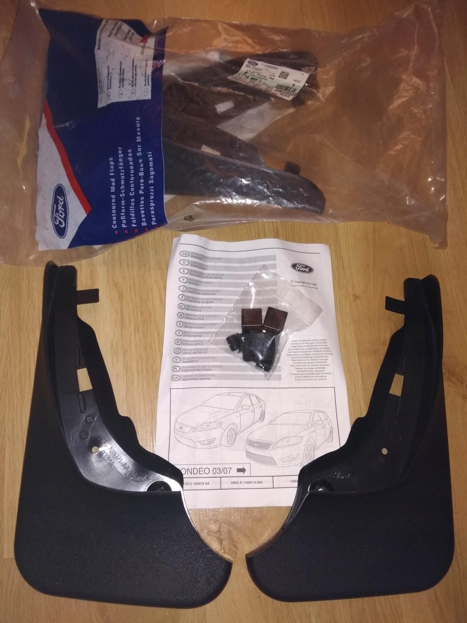 Chlapacze Tył Tylne Ford Mondeo Mk4 5D 010- Aso