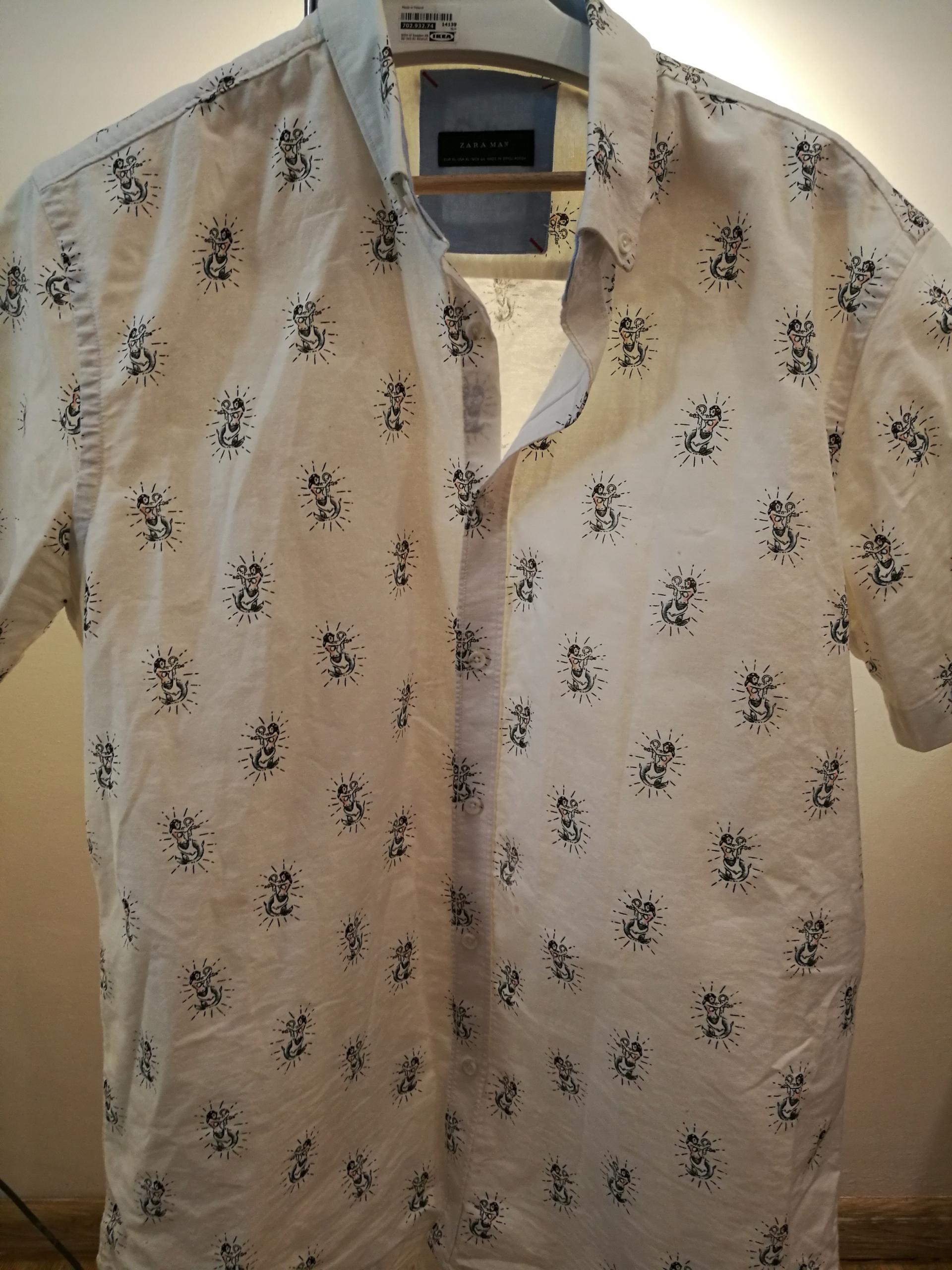ZARA - Koszula z Krótkim Rękawem we Wzory
