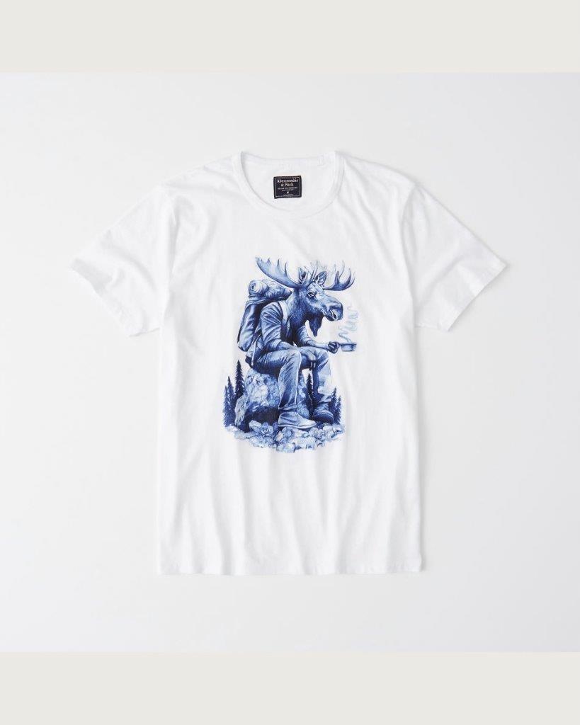Abercrombie & Fitch Koszulka T-shirt S łoś