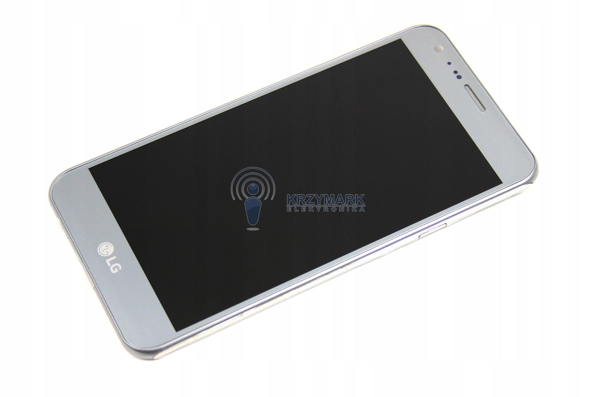 LCD WYŚWIETLACZ LG X CAM K580 K-580 SREBRNY RAMKA
