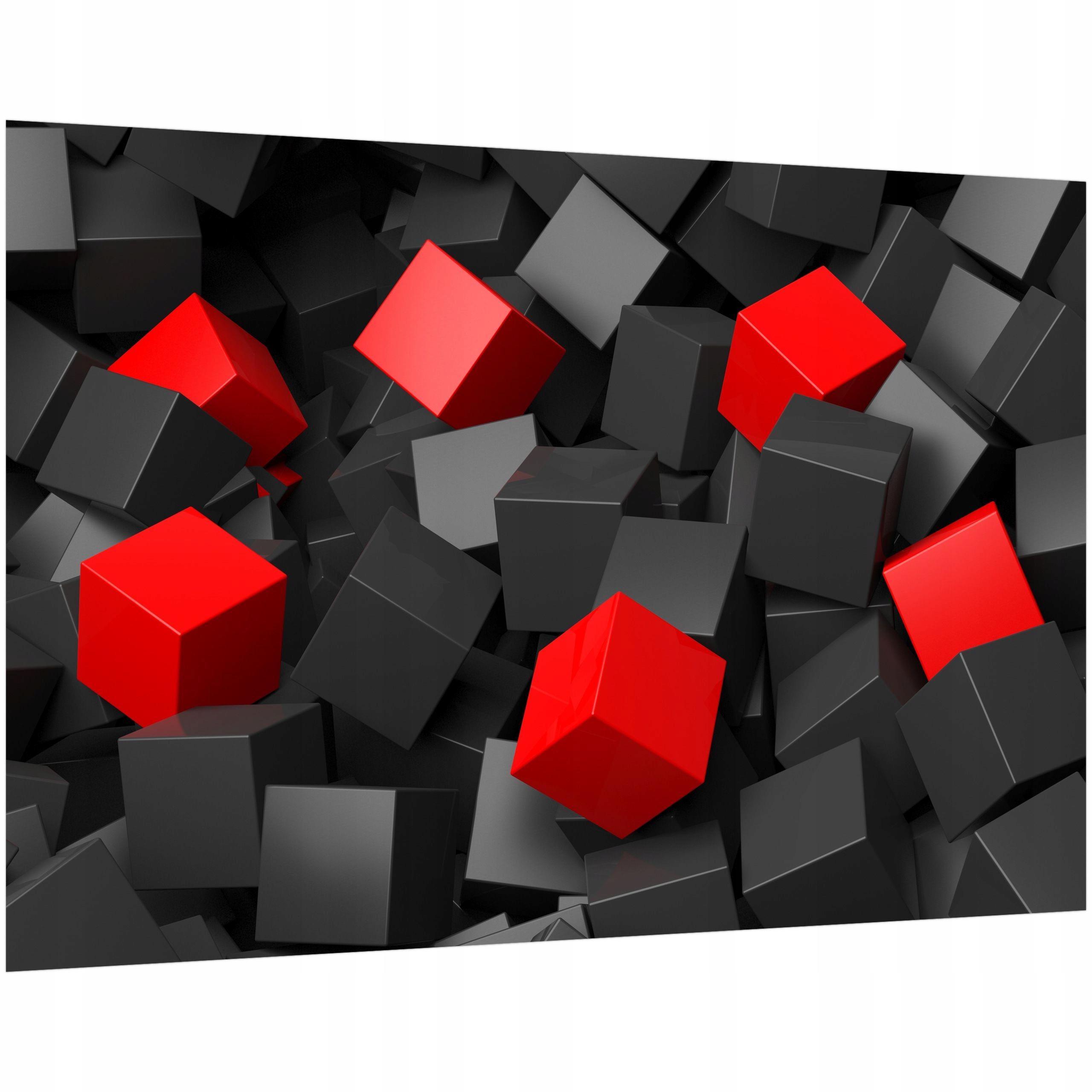 Fototapeta do Kuchni 200x135 Czarno czerwone Winyl