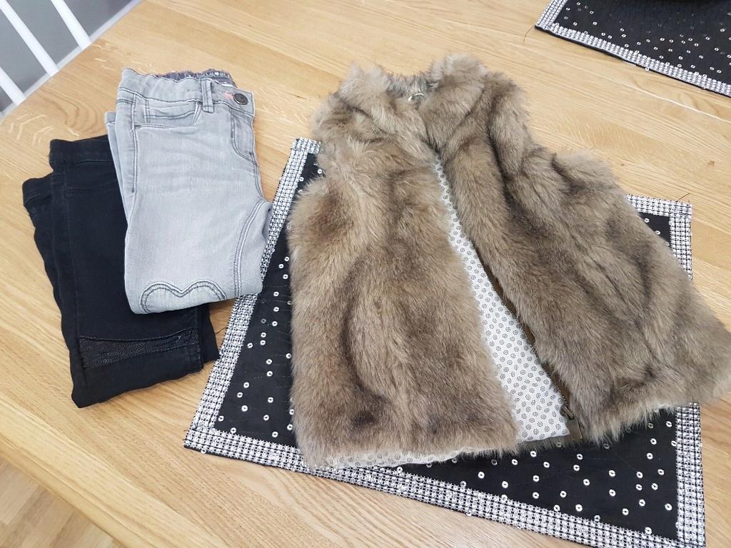 zestaw kamizelka spodnie 3-4 l zara hm c&a