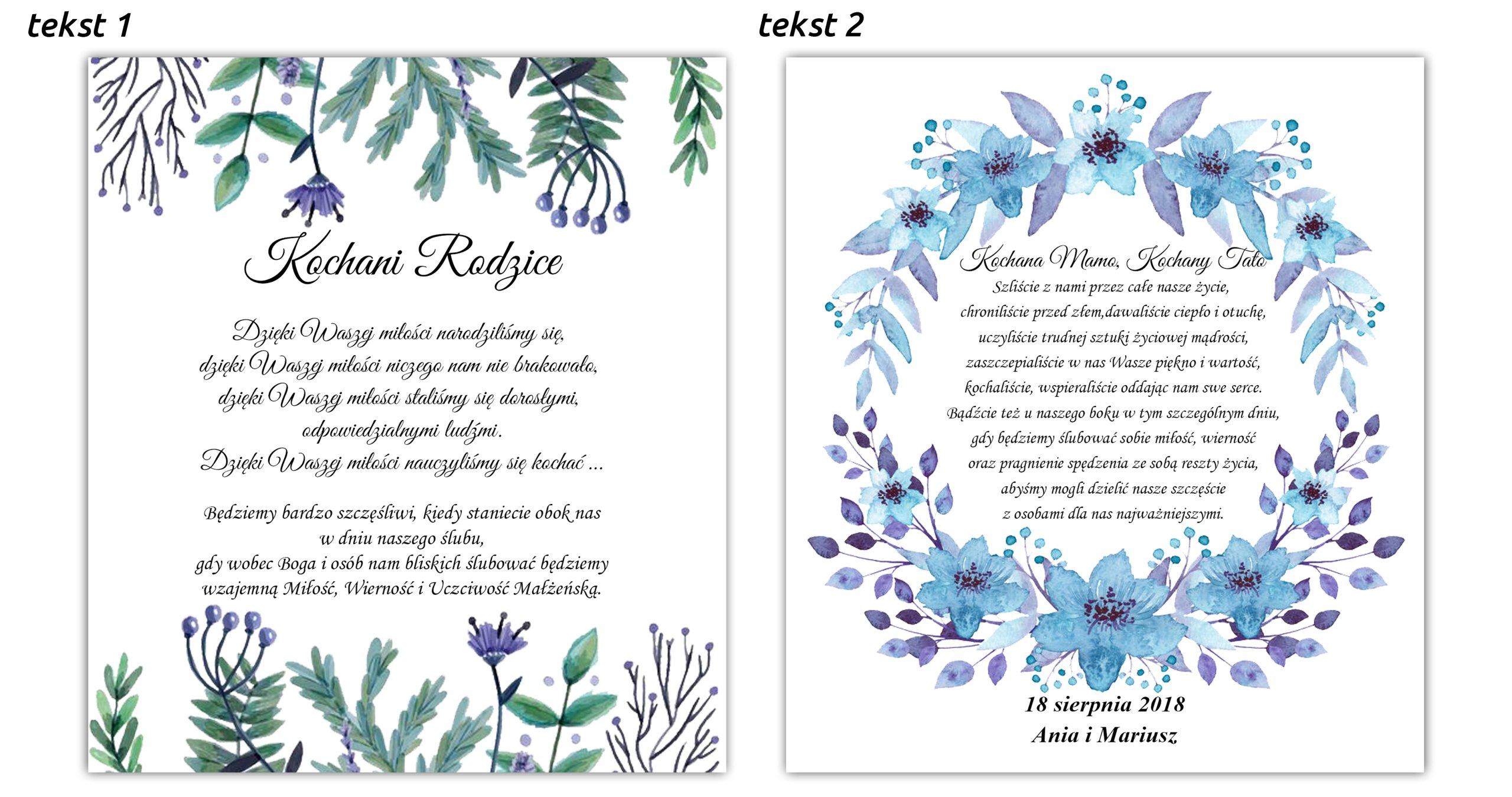 Zaproszenie Dla Rodziców Na ślub Błogosławieństwo 7220523474