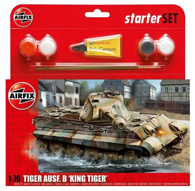 PZKW VI AUSF.B King Tiger zestaw z farbami Airfix