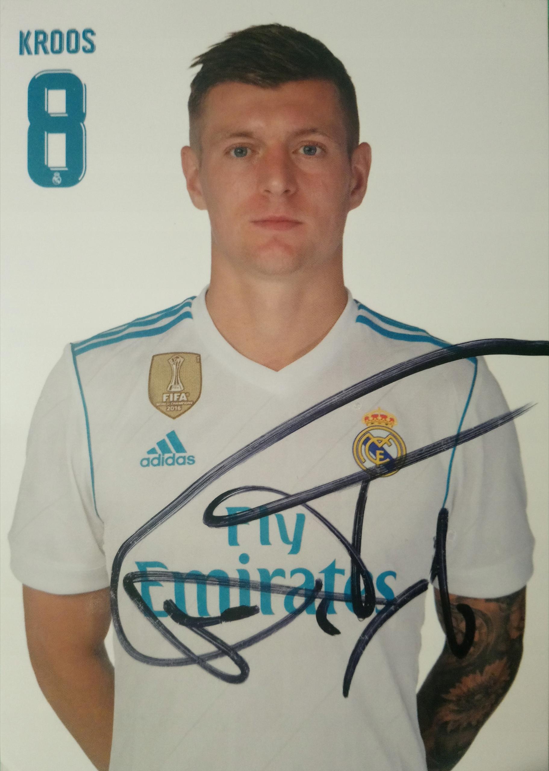 Autograf Toni Kroos Niemcy Real Madryt