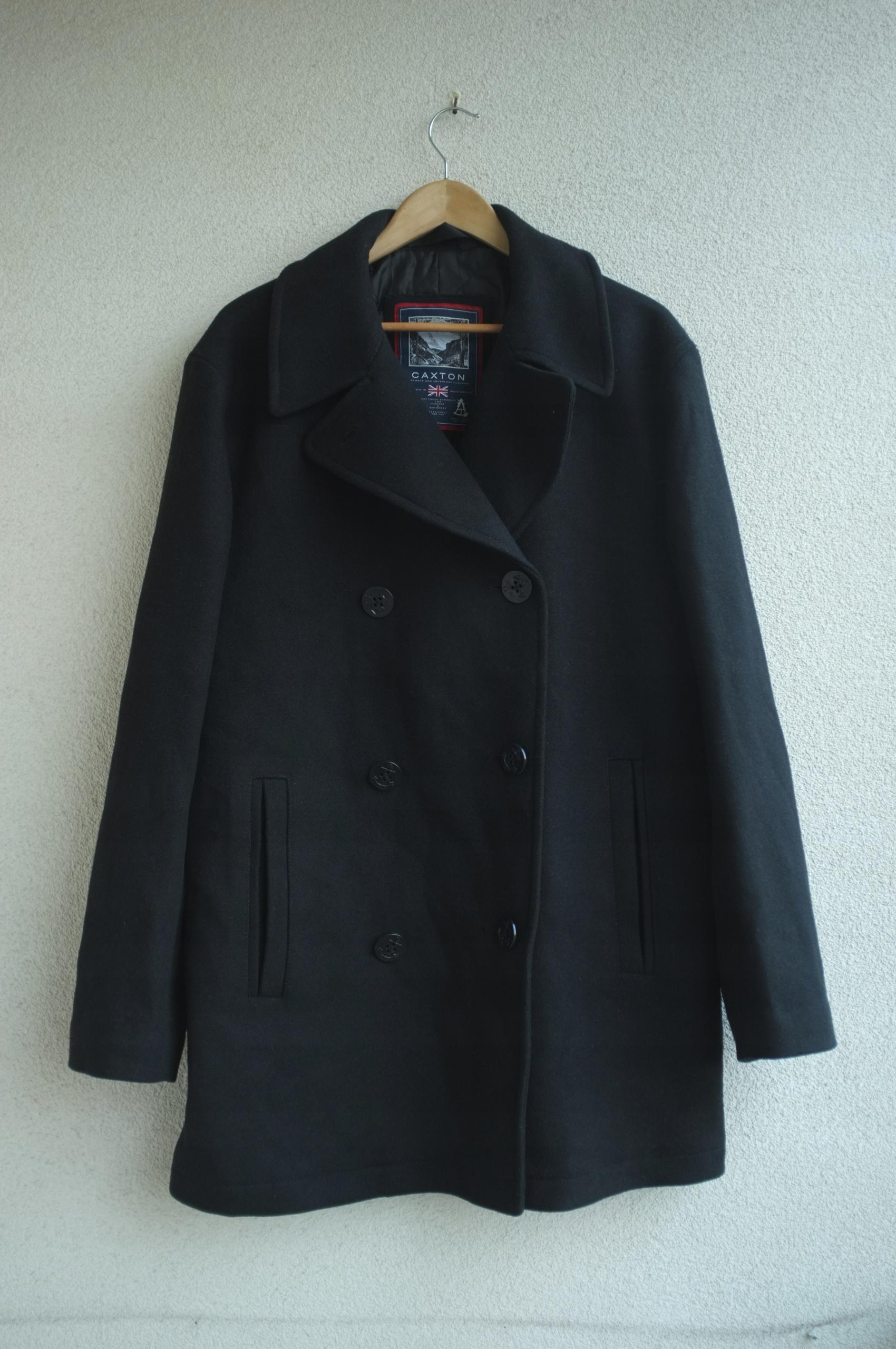 męski wełniany płaszcz Caxton XL bosmanka klasyka