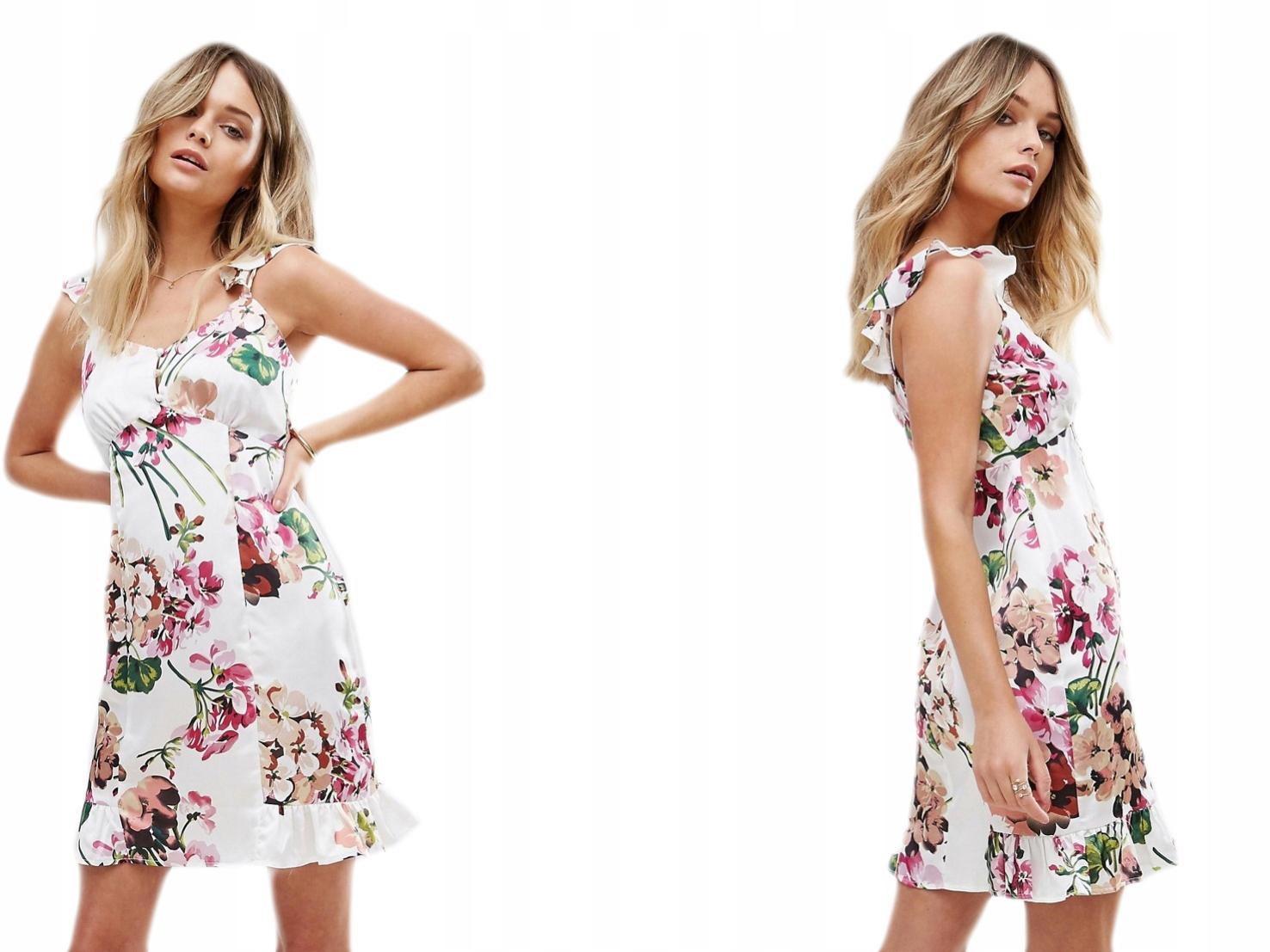 Boohoo Sukienka na ramiączkach w kwiaty L/40