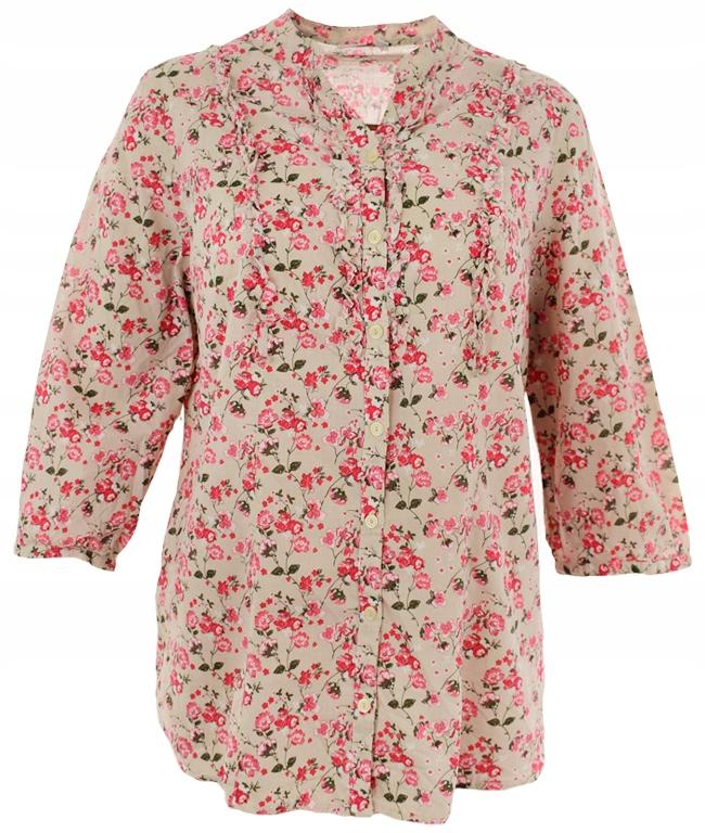 kDD0677 koszula w kwiaty, rozmiar 48