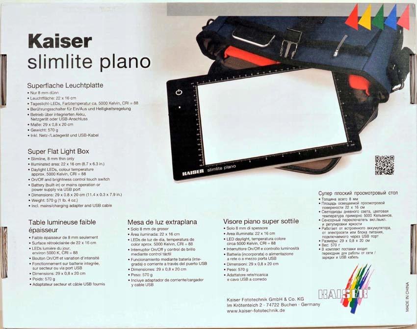 Podświetlarka slimite LED K-2453 22x16 cm