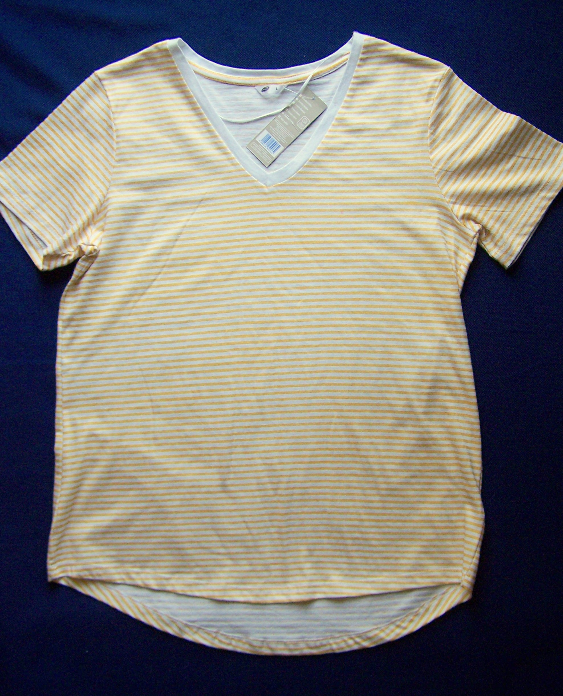 BLUZKA DAMSKA T-SHIRT GOLD 100% COTTON L PEPCO