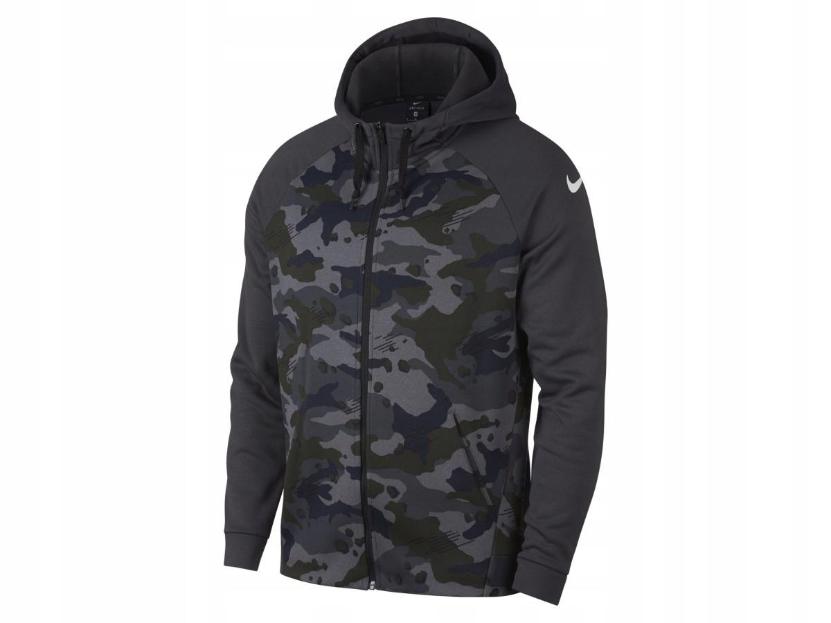 Bluza męska z kapturem Nike THERMA CAMO AR3111 011