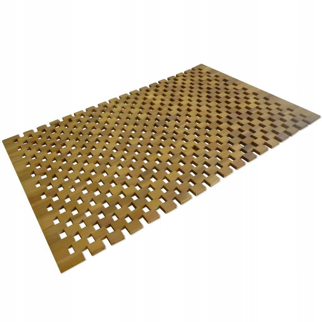 Mata łazienkowa, drewno akacjowe, 80x50 cm, mozaik