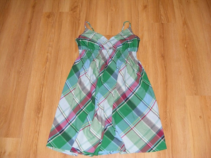 PAPAYA sukienka w kratkę 100%BAWEŁNA 18