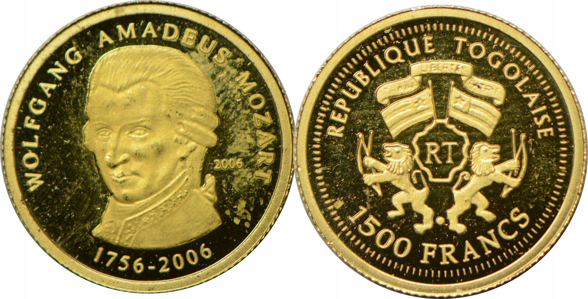 2. TOGO 1500 FR 2006 MOZART ZŁOTO .999 GCN 21.01