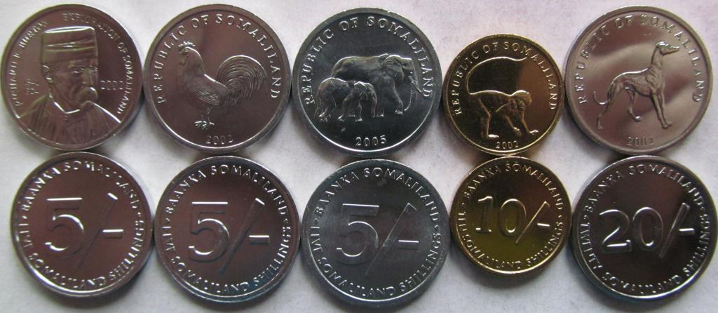 Somaliland zestaw 5 monet 2002-2005 UNC