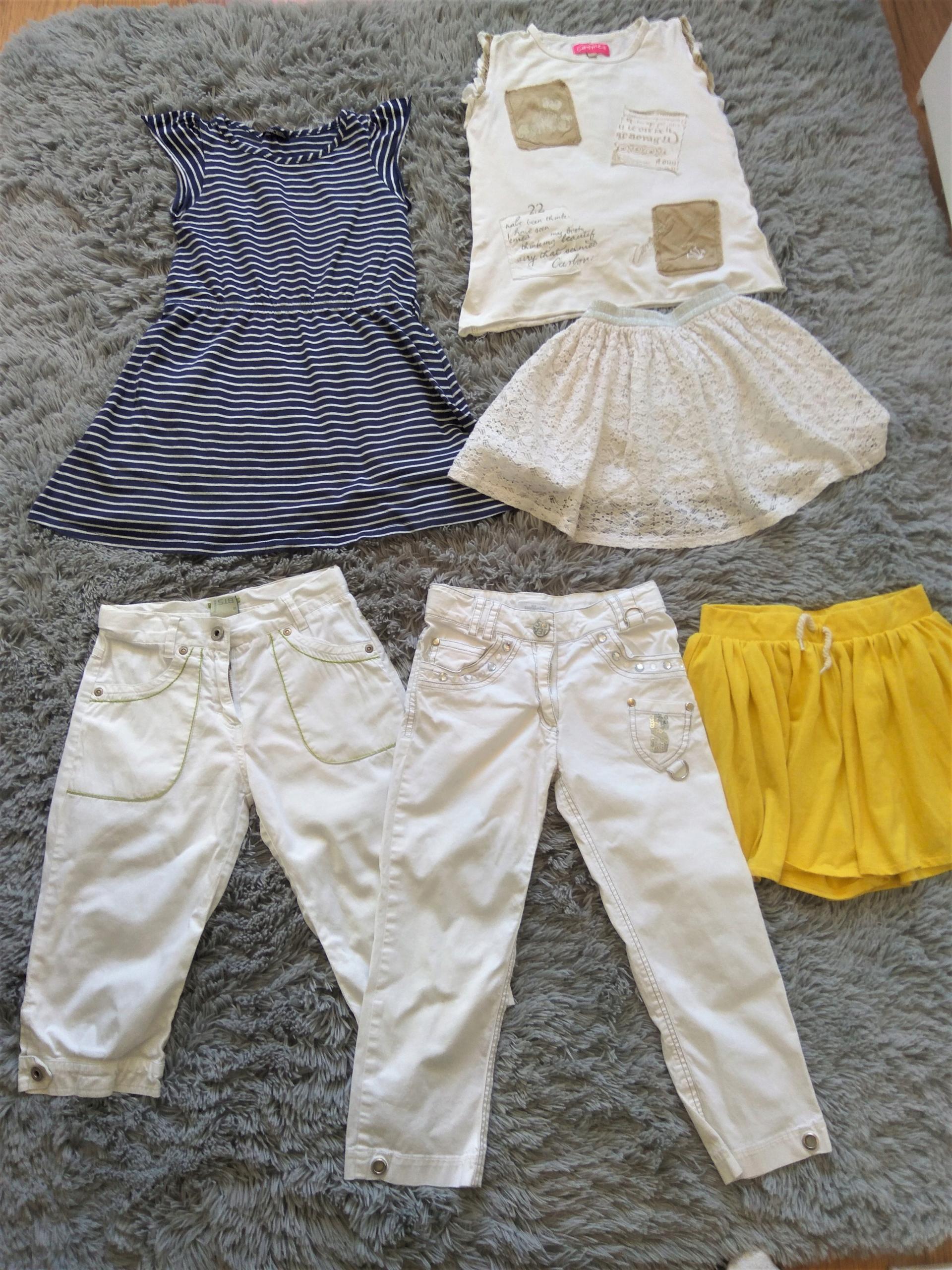 Piękny zestaw ubrań r. 128 dla dziewczynki