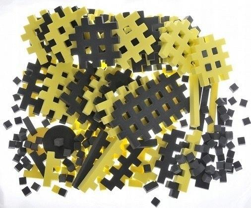 PIANKOWE PUZZLE SENSORYCZNE 230EL graphite-lemon p
