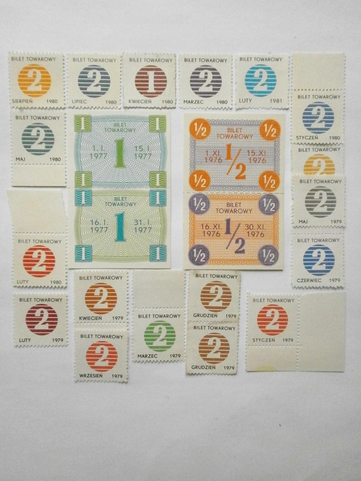 Bilety Towarowe Cukier 20 egzemplarzy II.