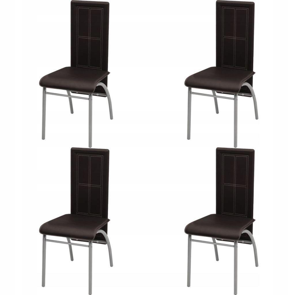 Krzesła jadalniowe 4 szt. Brązowe