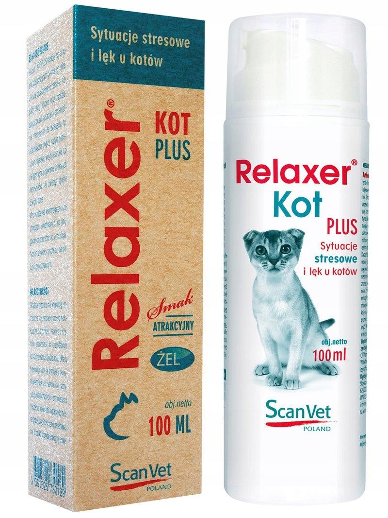 ScanVet Relaxer Kot Plus praparat na stres w żelu