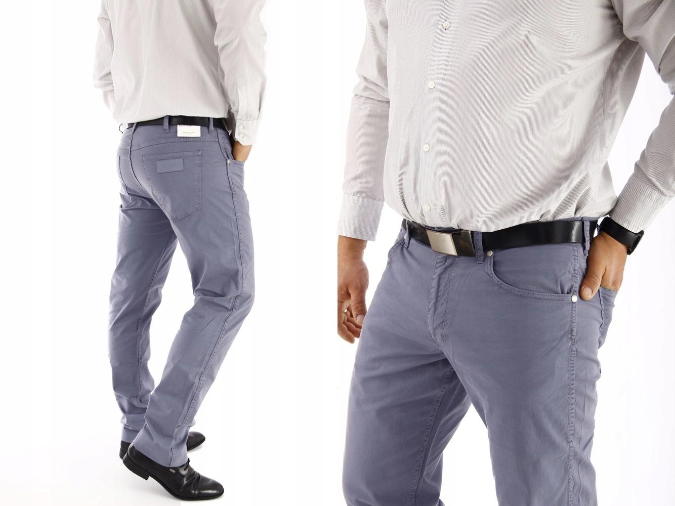 Wrangler Greensboro Flinston Blue spodnie W42 L34