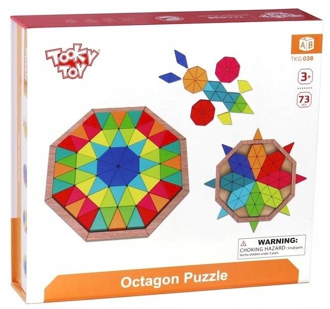 Tooky Toy - Puzzle Trójkąty Zabawka Drewniana