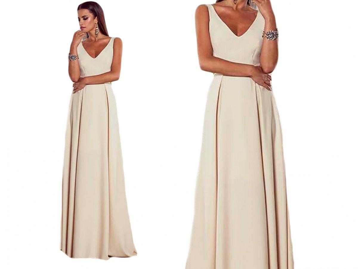 22ce895a4f Długa Suknia Wieczorowa Sukienka Maxi Wesele 6814603525