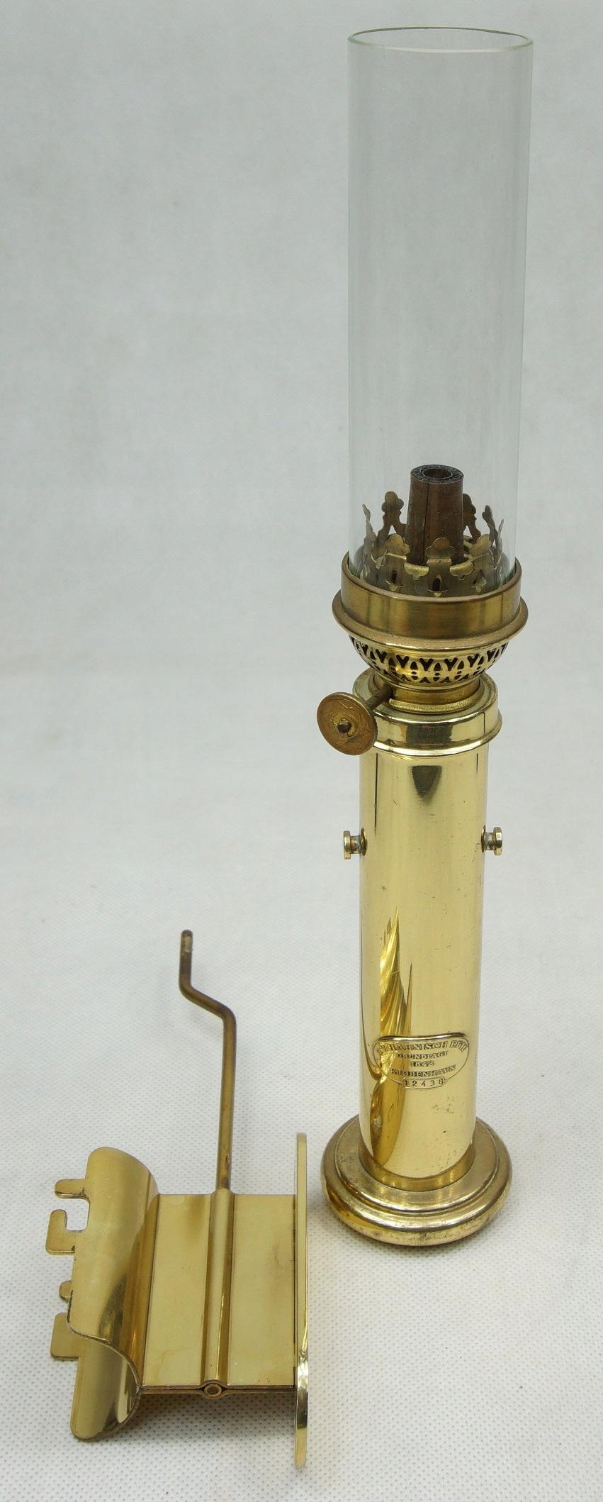 Mosiężna lampa naftowa HARNISCH
