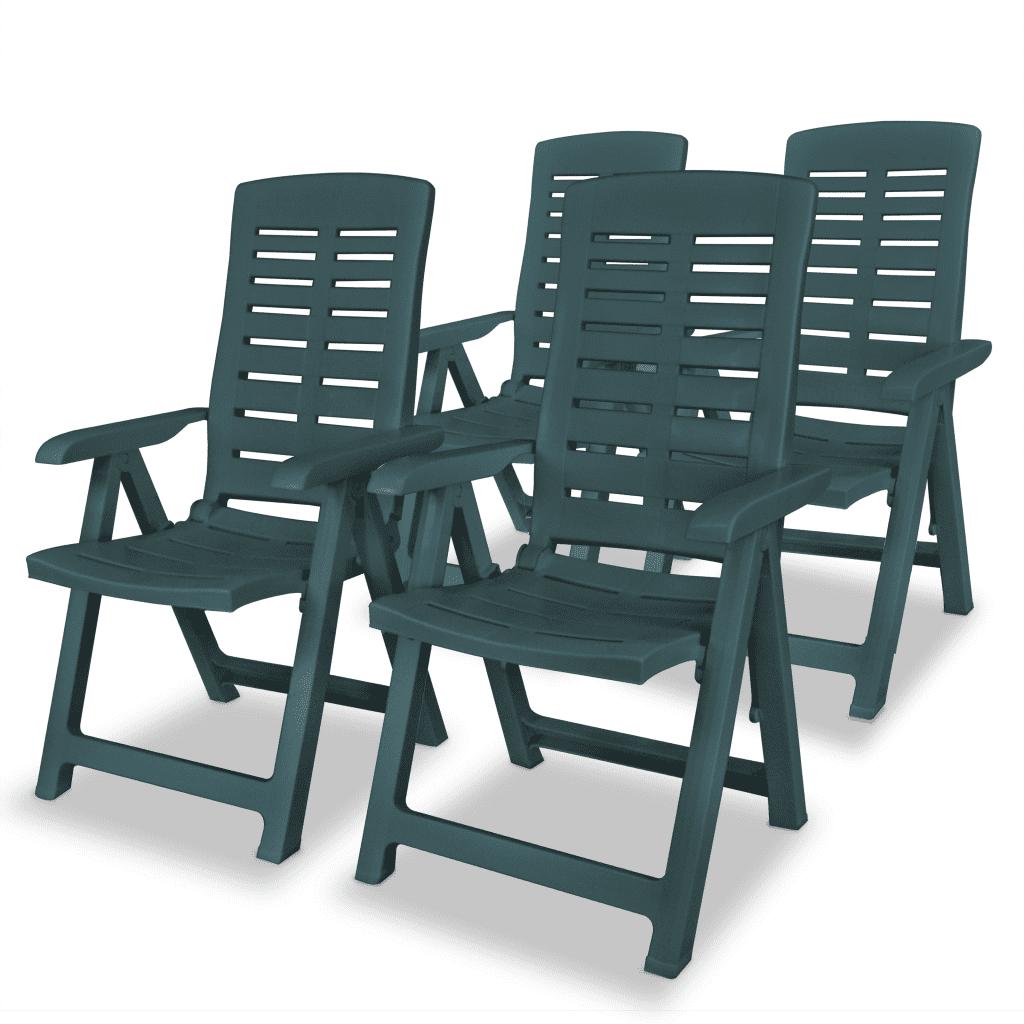 275069 vidaXL Rozkładane krzesła ogrodowe, 4 szt