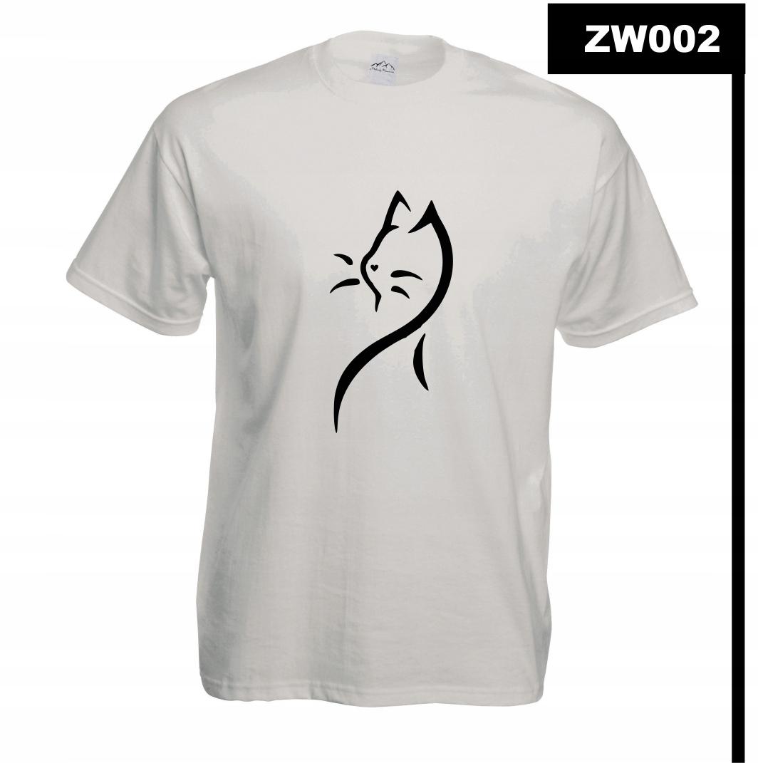 Koszulka z nadrukiem MÓJ KOT KOCIAK CAT ZW002M B3X