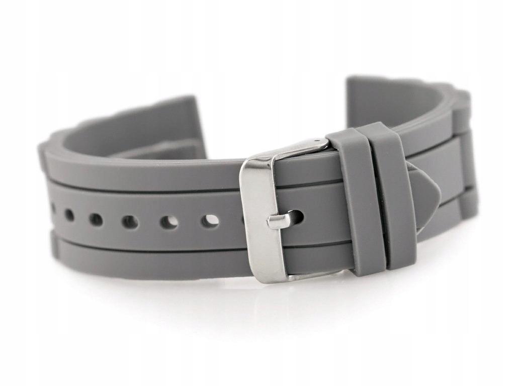 Pasek gumowy do zegarka 904T - karbowany - 20mm